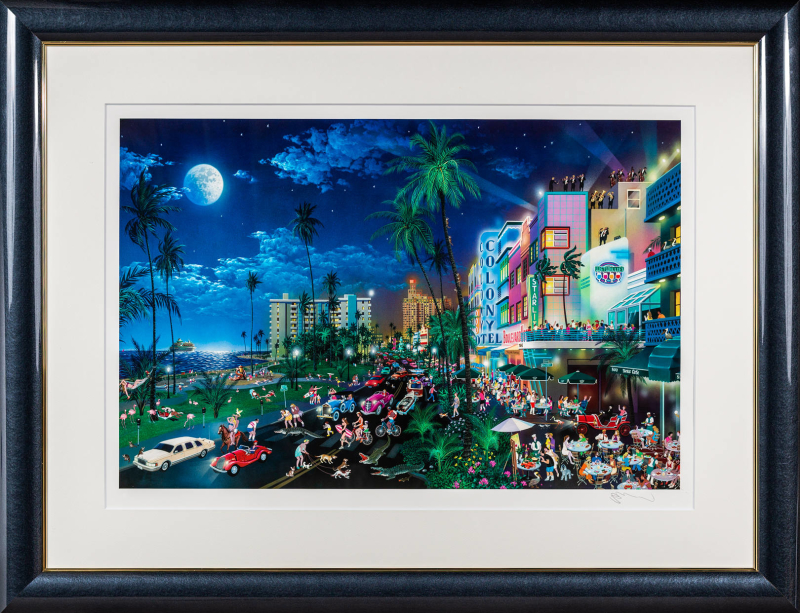 版画 中古 Miami South Beach シルクスクリーン 本人 アレクサンダー 鉛筆 サイン Alexander ストアー 安い 激安 プチプラ 高品質 チェン Chen