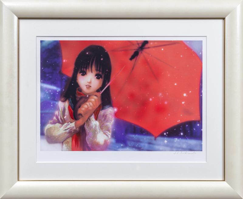 版画 営業 安値 中古 Reverb 雪慕 ミックスドメディア 本人 Haruhiko 美樹本晴彦 サイン Mikimoto 鉛筆