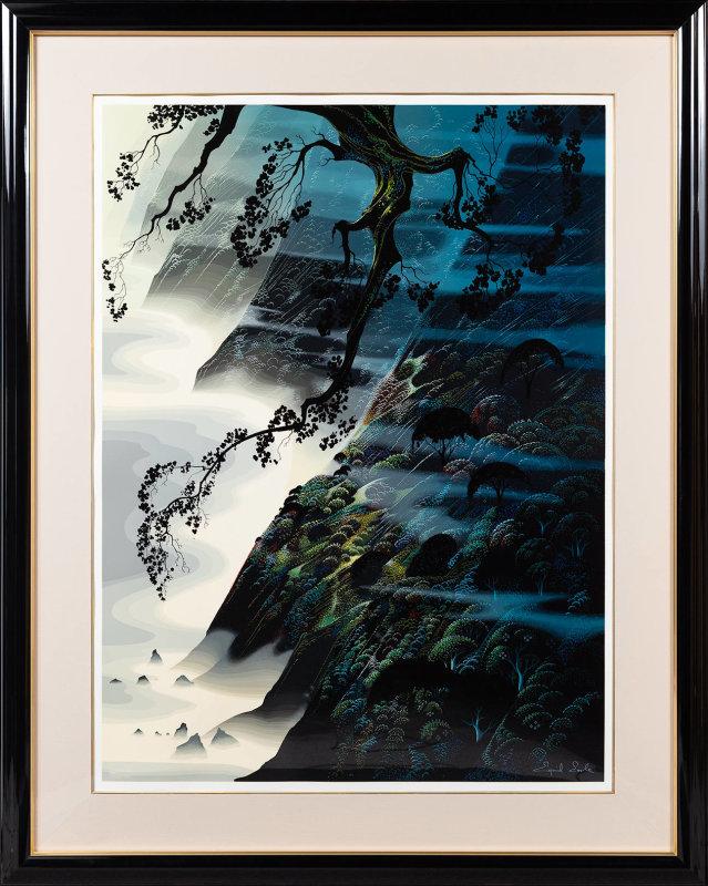 版画 中古 シー ウィンド アンド 日本製 フォグ シルクスクリーン ペン Earle 本人 サイン Eyvind アール アイベン マーケット
