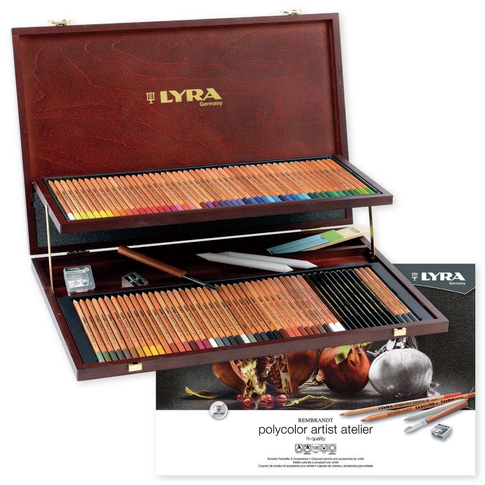 LYRA リラ ポリカラー ウッドボックス 78色アソートセット L2004200 [DM便不可]【送料無料】