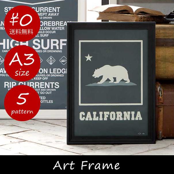【送料無料】ARTWORK STUDIO Art Frame A3 アートフレーム 額縁 木 ウッド 木製 ブラック 黒 白 ホワイト フェイクフレーム インダストリアル アンティーク ブルクッリン インテリア 置物