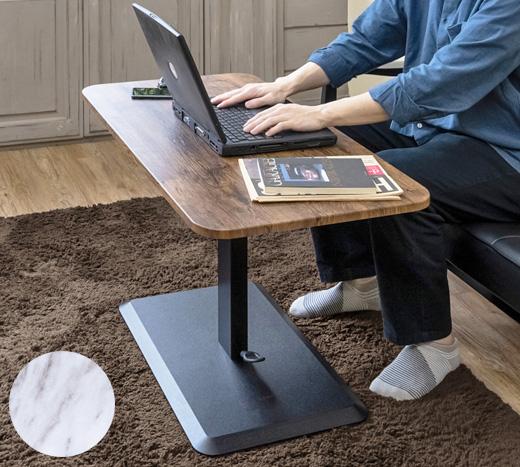 送料無料 スライドテーブル 90cm幅 鏡面 デスク 収納棚 引き出し ブラック 黒 日本製