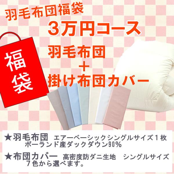 新春福袋!3万円コース 羽毛布団+布団カバー ポーランド産ホワイトダック90%