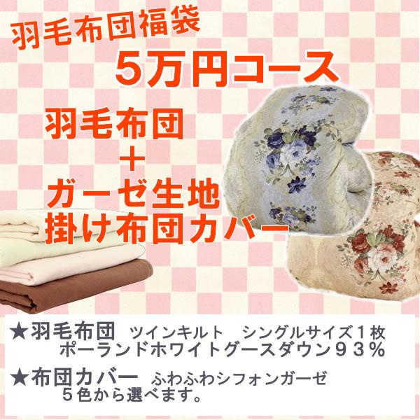 新春福袋!5万円コース 羽毛布団+布団カバー ポーランド産ホワイトグース93%