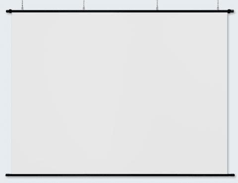 日本製プロジェクタースクリーンリア投影型130インチ (4:3) RS-130『窓ガラス広告・プレゼン・ショウルーム』などに!