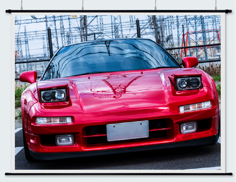 日本製プロジェクタースクリーンリア投影型140インチ (4:3) RS-140『窓ガラス広告・プレゼン・ショウルーム』などに!