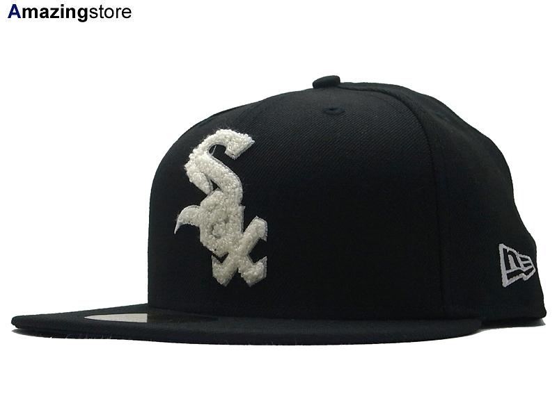 NEW ERA ニューエラ CHICAGO WHITE SOX シカゴ ホワイトソックス【CHENILLE APPLIQUE/BLK】[ 帽子 ヘッドギア new era cap ニューエラキャップ new eraキャップ neweraキャップ 大きい サイズ メンズ レディース ]