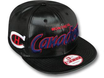 NEW ERA MONTREAL CANADIENS new era Montreal Canadiens 9 FIFTY Snapback  Hat  headgear cap Cap large size mens ladies headwear PU leather SCRIPT LEATHER  NHL  92a73b67f