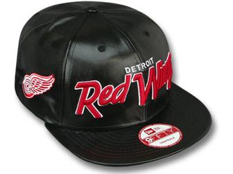 NEW ERA DETROIT RED WINGS new era Detroit Red Wings 9 FIFTY Snapback  Hat  headgear cap Cap large size mens ladies headwear PU leather SCRIPT LEATHER  NHL  94a22d24c
