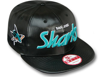NEW ERA SAN JOSE SHARKS new era San Jose Sharks 9 FIFTY Snapback  Hat  headgear cap Cap large size mens ladies headwear PU leather SCRIPT LEATHER  NHL  e4c728f40557