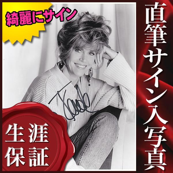 【直筆サイン入り写真】 バーバレラ 黄昏 等 ジェーン・フォンダ Jane Fonda /モノクロ 映画 ブロマイド オートグラフ