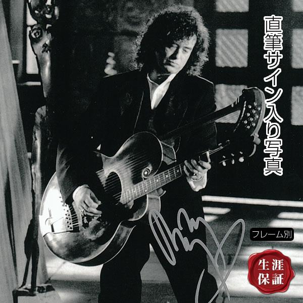 【直筆サイン入り写真】 アウトライダー等 ジミー・ペイジ Jimmy Page レッドツェッペリン Led Zeppelin グッズ /ブロマイド オートグラフ 約20×25cm /フレーム別