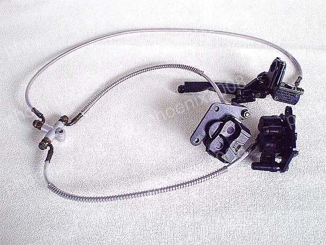 ATV 四輪バギー 油圧ブレーキ セット 2ポット キャリパー 黒