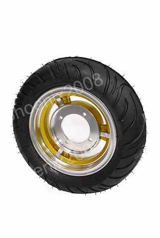 2726 モンキー ゴリラ アルミ キャスト ホイール タイヤ 3.5J 金