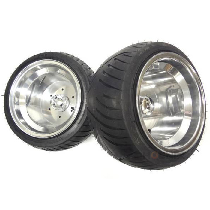 4104 ジャイロX ジャイロUP ジャイロキャノピー等の汎用 ホイール タイヤ セット センターキャップ付 2本セット