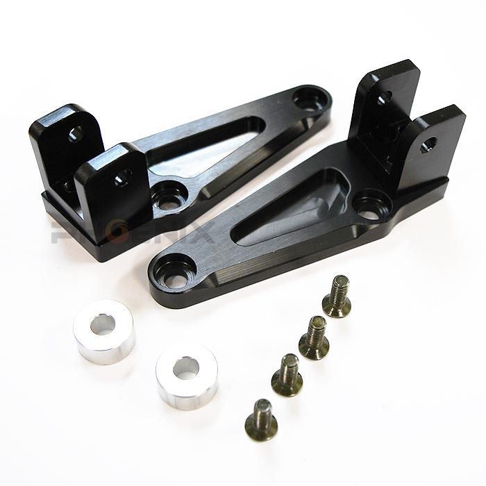 ホンダ バイク CB1300用 社外 タンデムステップ アルミ 削りだし ステー 左右セット ブラックアルマイト