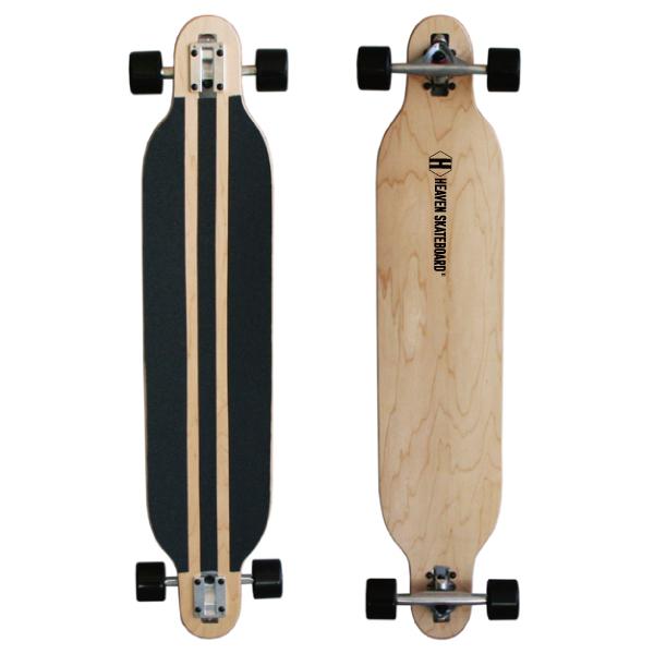ロングスケートボード41.5インチ HEAVEN DROP SURFヘブン ロンスケカラー:ナチュラルオフトレに最適スライドにもカービングの練習に最適訳あり あす楽対 送料無料 数量限定・特別価格