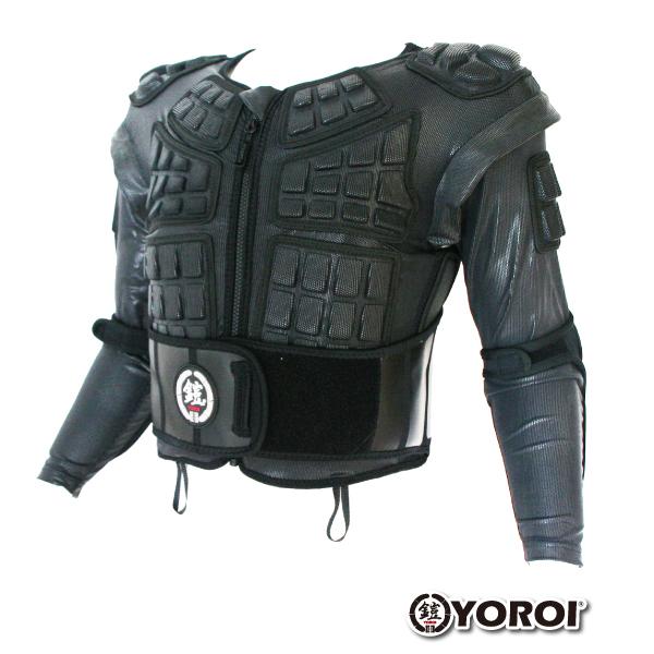あす楽対応・送料無料ヨロイ ジュニア・ジャケットプロテクターYOROI WAKA POWER VESJACKジャケットにも!ベストにもなる!成長にに合わせてサイズも変えれますキッズ用 ジュニア用 バックプロテクター 上着 上半身 鎧