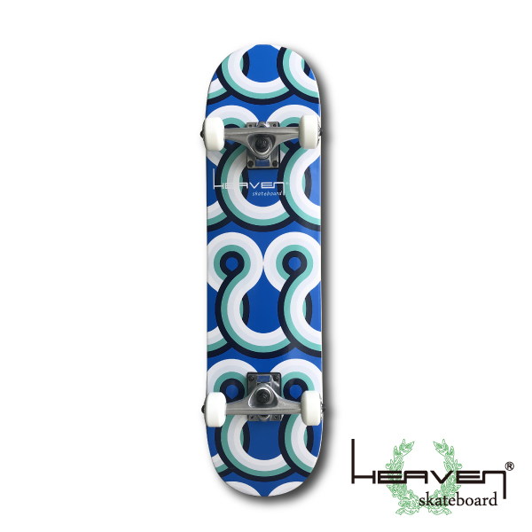 HEAVEN スケートボード 31×7.75 ブルーレインボー コンプリート ヘブン ABEC7 スケボー スケート sk8 SKATEBOARD 訳あり特別価格