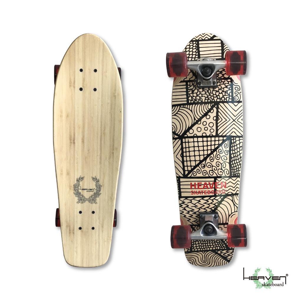 HEAVEN スケートボード 28×8 モザイククルーザー コンプリート ヘブン ABEC7 スケボー スケート sk8 SKATEBOARD 訳あり特別価格