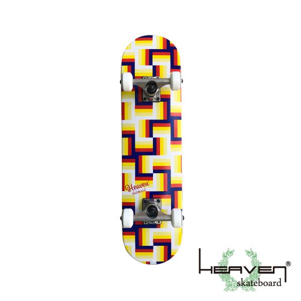 HEAVEN スケートボード 28.5×7.375 ピース ジュニア キッズ コンプリート ヘブン ABEC7 スケボー スケート sk8 SKATEBOARD