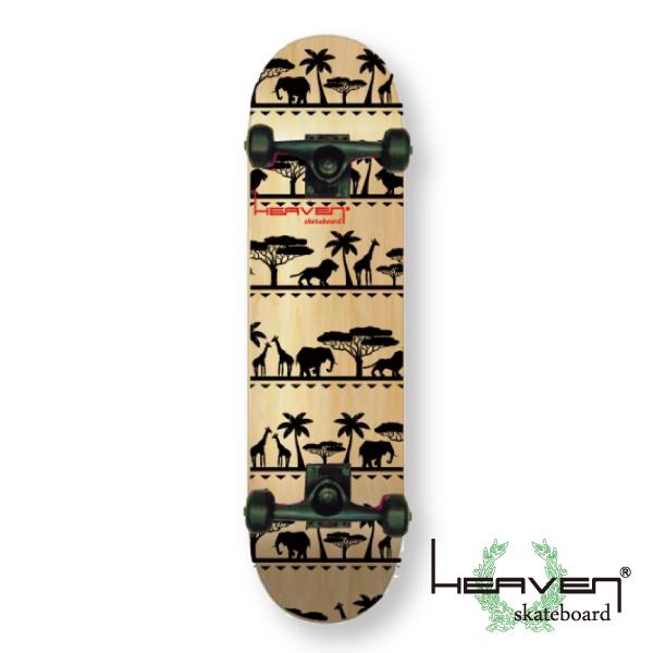 スケートボードハイクオリティー コンプリート スケート 完成品HEAVEN SKATE COMPLETEAFRICA 31×7.625アフリカ 78.7×19.4センチヘブン スケボー送料無料 あす楽対応訳あり 特別価格入荷時にわずかなキズのため