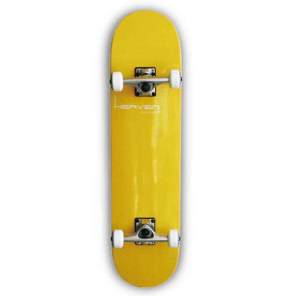 スケートボードコンプリートVitamin 31×7.625 HEAVEN PERFECT SKATE COMPLETEカラー:バナナイエロー Banana Yellow1番人気のハイスペックモデル 1番人気のサイズ 高品質 カナディアンメープル ヘブン スケボー