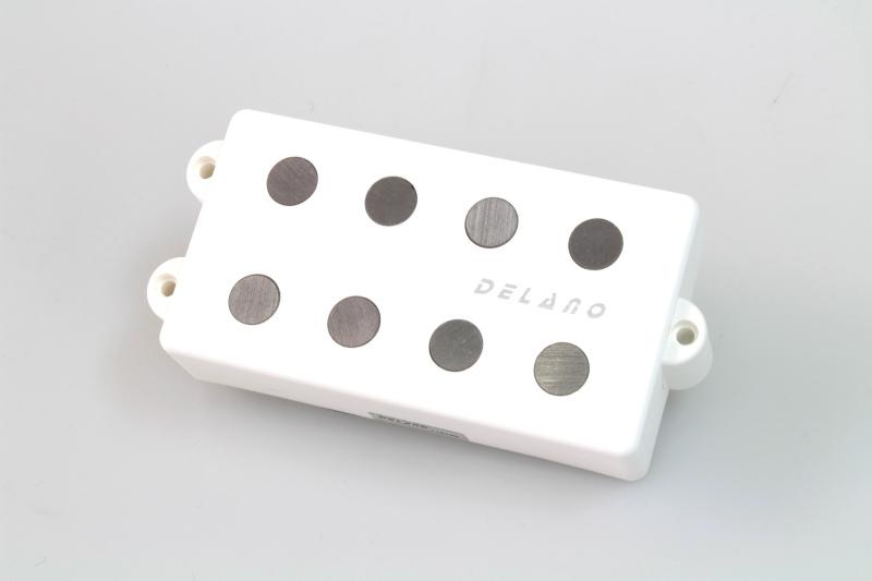 DELANO MC 4 AL Delano 4-string dual coil humbucker pickup WHITE【新品】【ディラノ】【ベース】【ピックアップ】