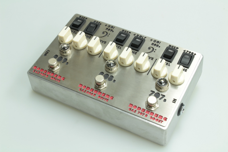 RODENBERG AMPLIFICATION GAS-789B NG Clean Boost / Double Overdrive【新品】【ローデンバーグ】【ベース】【エフェクター】