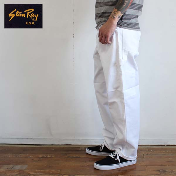 Stan Ray Stanley Cotton Made In Usa 100 Twill Painter Pants White 2354 Single Front S Pant 20170323