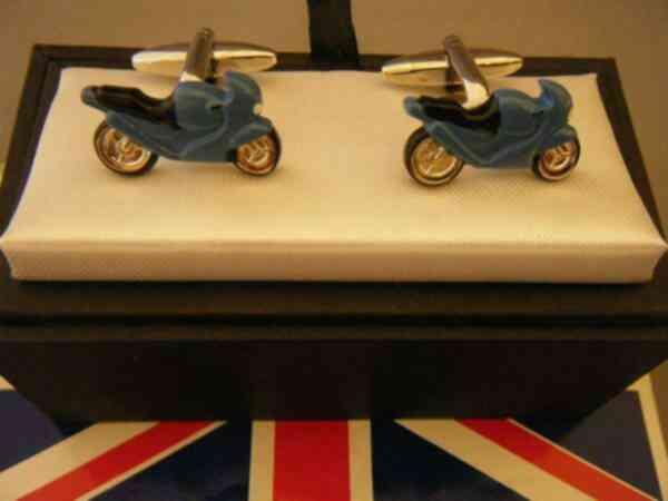 紳士用 父の日 Cufflinks カフリンクス 新作からSALEアイテム等お得な商品満載 ファクトリーアウトレット Tバー カフスカフリンクスCufflinksメンズ紳士英国製ブルーバイクL054 あす楽対応 カフス