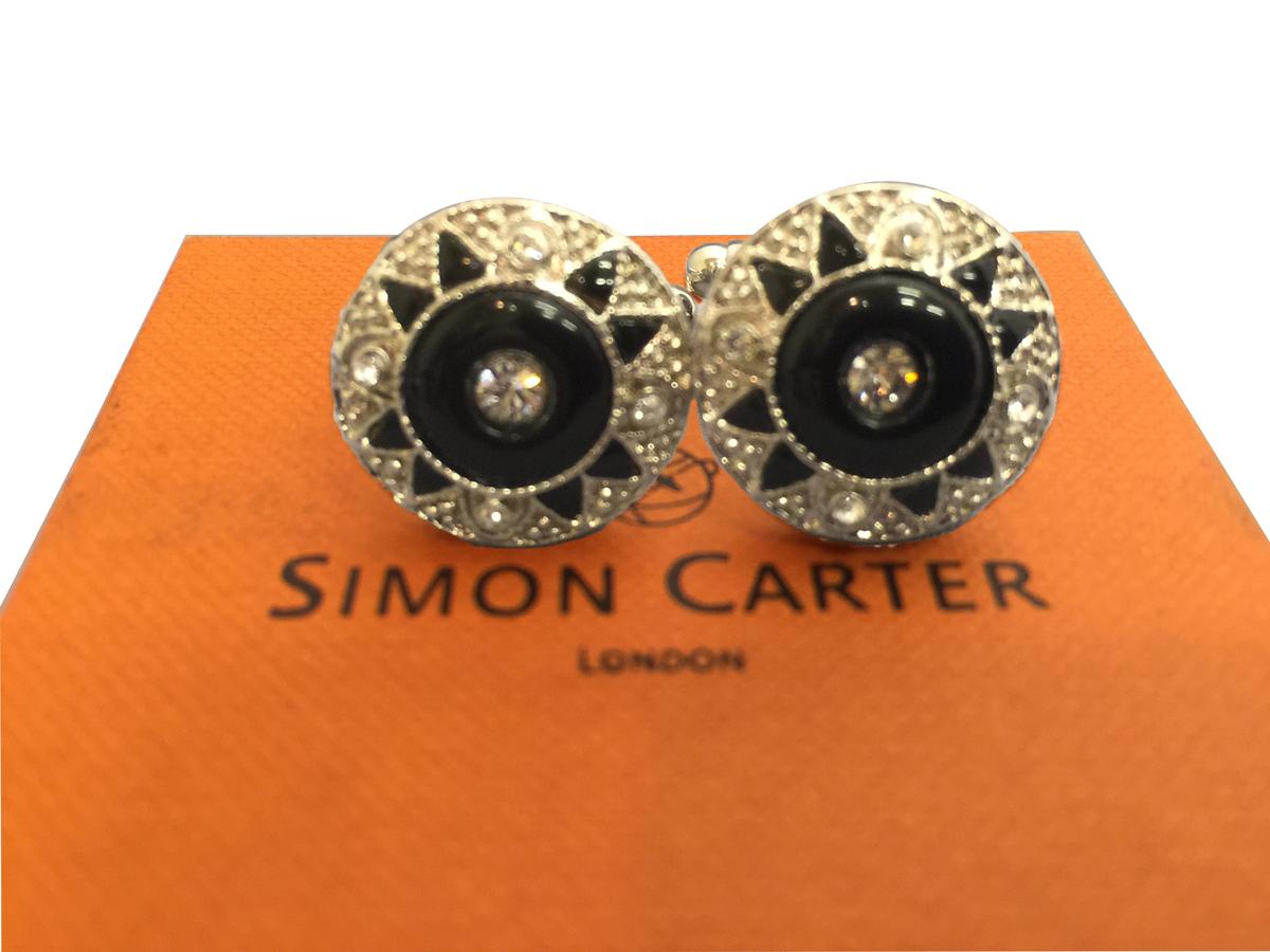 紳士用 人気 おすすめ 父の日 Cufflinks サイモンカーター SimonCarter カフリンクス カフス Tバー ダブルフェイス 英国製 通販 VC 紳士 L190 メンズ ONX Wフェイス