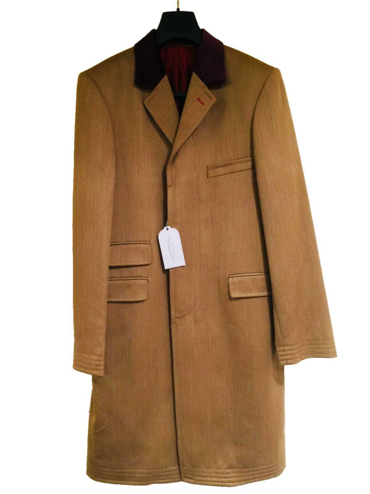 カバートコー ト メンズ 紳士 英国製 PeterChristian Covertcoat ピータークリスチャン Wool ウール Tan 狩猟 乗馬 サイズ選択 E199
