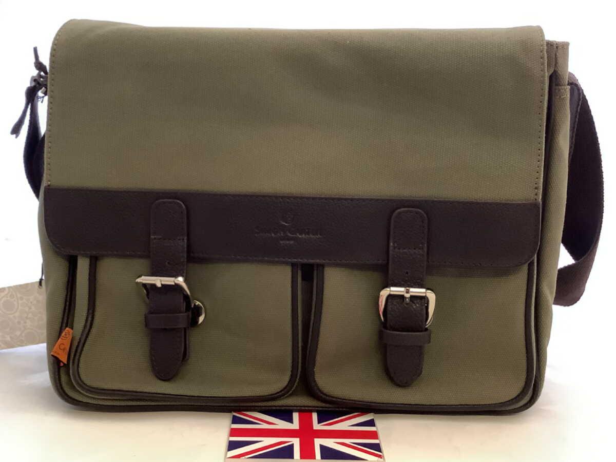 英国メンズ紳士サイモンカーターSimonCarterサッチェルバッグGreenグリーン緑Size35.5x27x9cmE251