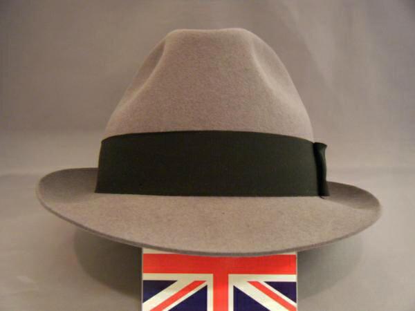 英国製 メンズ 紳士用 イード&レーヴェンスクロフト社 中折れ帽 GY59 H242-1
