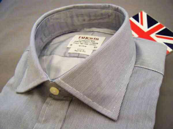 紳士用父の日Shirt 気質アップ Wカフシャツ TML ドレスシャツ 英国TMLewinWカフスJF 綿 T175 Cotton 蔵 NYST15 コットン