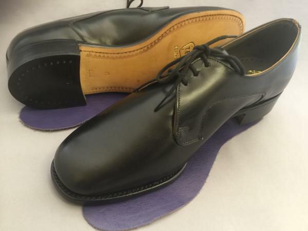 紳士用 父の日 Shoes 靴 男女兼用 シューズ デッドストック 英国製 発売モデル テクニック Tecnic 稀少ヴィンテージ ブラック プレーントゥーダービー 6 EEE S017 黒 Size Black 36