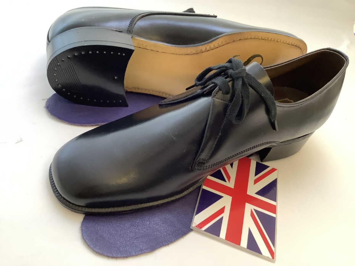 靴 メンズ 紳士 デッドストック 英国製 サビルロー Savile Row 稀少ヴィンテージ プレーントゥーダービー8 S028