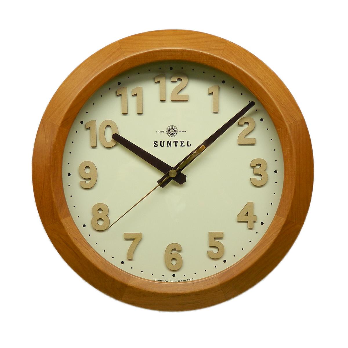 日本製 さんてる インテリア 電波時計