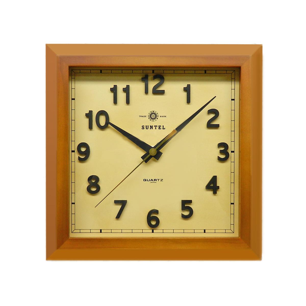 値頃 日本製 さんてる 天然木 角型電波時計 ブラウン さんてる 角型電波時計 天然木 「スクエア」, 豊平町:75f4fe5c --- canoncity.azurewebsites.net