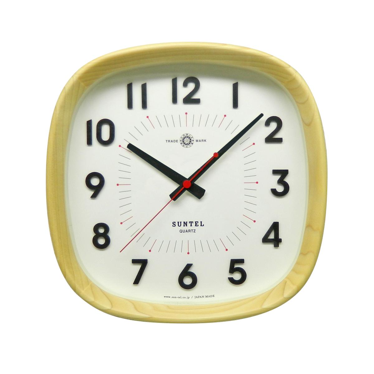 超激安 日本製 日本製 さんてる 天然木 さんてる ナチュラル電波時計 「WARM」 「WARM」, 中頸城郡:a76dc6a2 --- konecti.dominiotemporario.com