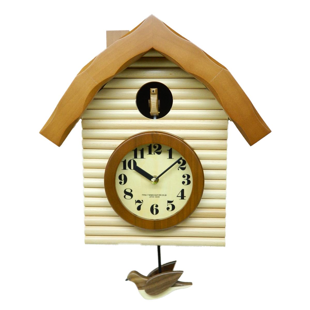 鳩時計 おしゃれ さんてる 手作り 壁掛け 日本製 木製 ギフト プレゼント インテリア 父の日