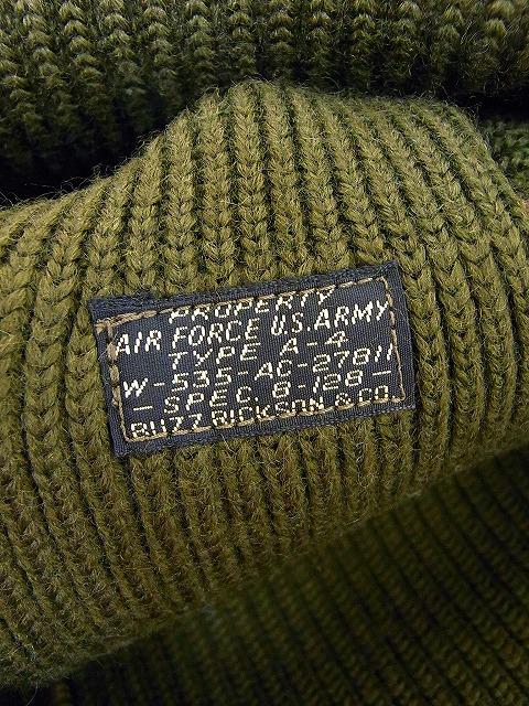 Buzz Rickson 's [バズリクソンズ] 니트 캡 모직 정비사 캡 A-4 MECHANIC CAP BR02241 (OLIVE)