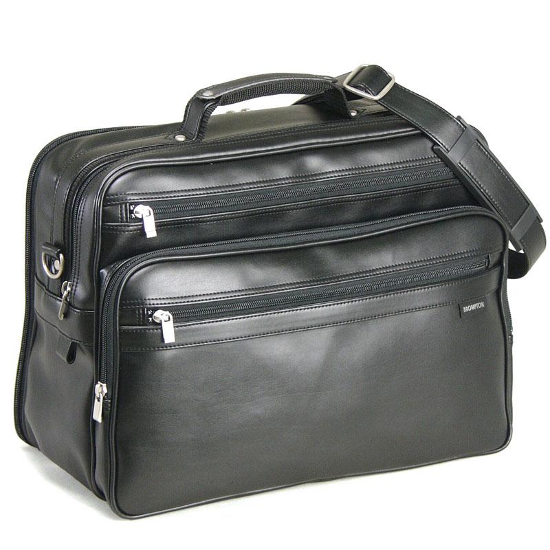 送料無料 BROMPTON ショルダーバッグ メンズ ビジネスバッグ カジュアル 通勤 旅行 横型 40cm B4 日本 豊岡製 紳士用 男性用 かばん カバン 鞄 16274