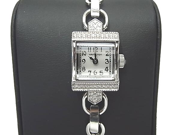 :ハミルトン ダイヤモンド入り レディース 腕時計 HAMILTON ヴィンテージ 時計【中古】時計