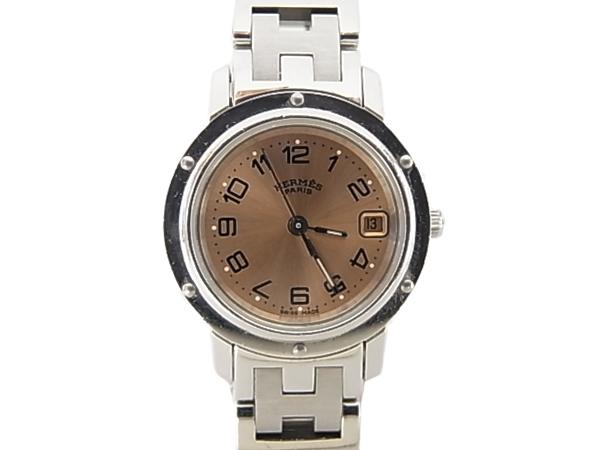 :エルメス クリッパー 腕時計 HERMES CL4.210 レディー 時計【中古】