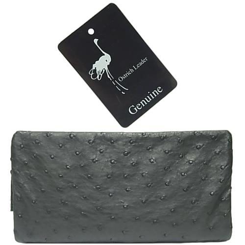 :オーストリッチ 長財布 ブラック【未使用】商品番号19653180