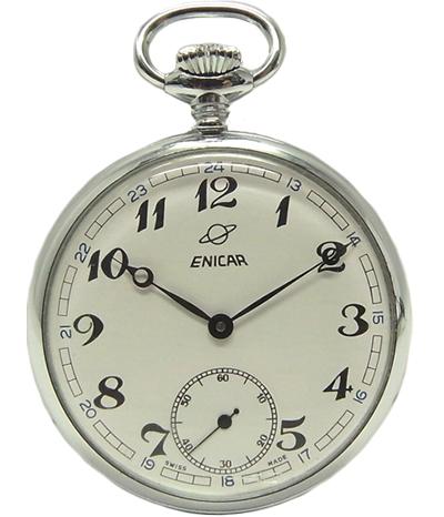 :エニカ 手巻 懐中時計 アンティーク ウォッチ【中古】