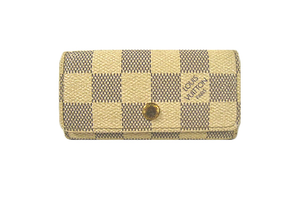 Louis Vuitton Damier Azur 4 books for key case N60020 LOUIS VUITTON 4 key holder key holder 4