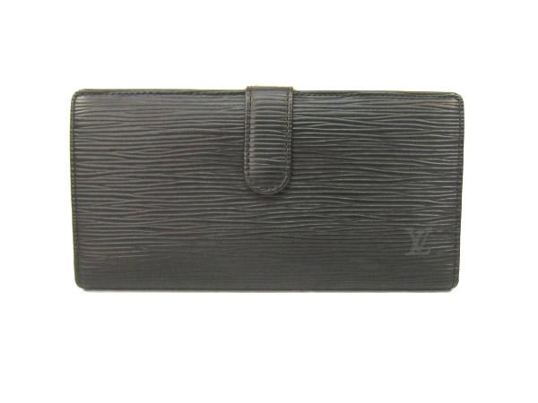 ルイ・ヴィトン エピ 長財布 M63252 がま口財布 ブラック LOUIS VUITTON 【ヴィトン】【中古】